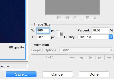 How to save images for the web with Photoshop - Piccia Neri