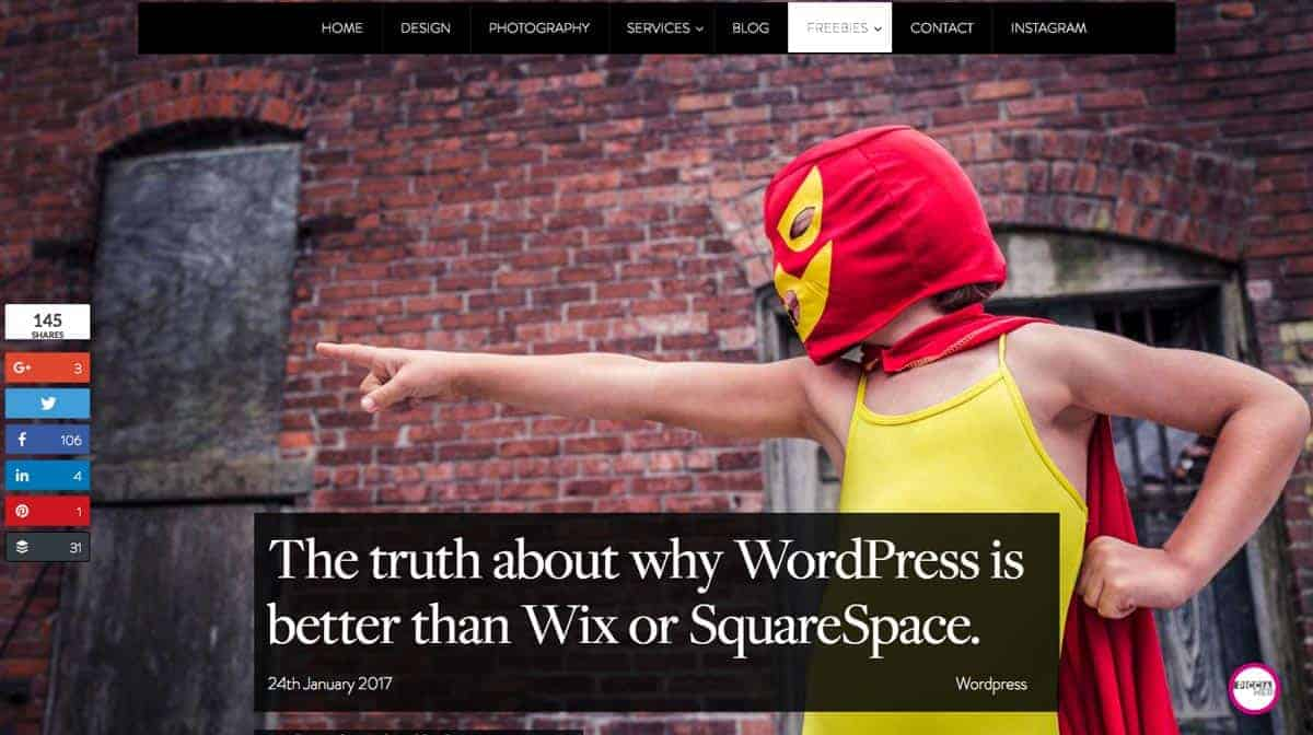 Blog post: The truth about why WordPress is better than Wix or SquareSpace.
