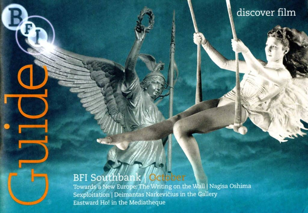 BFI Guide Cover for the New Europe Season, based on a still from Wim Wenders' Wings of Desire