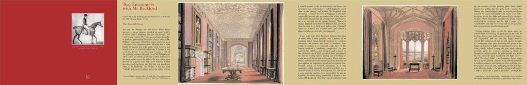 Fully opened green side, William Beckford Booklet, Dulwich Picture Gallery, Londo