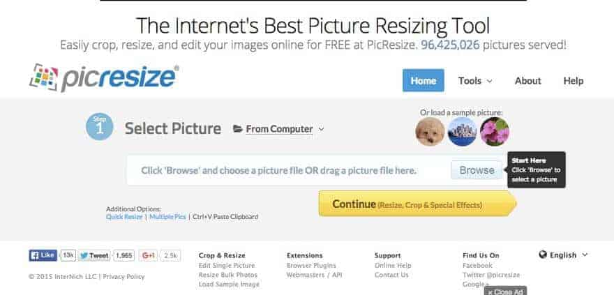 Pic Resize, another excellent tool to help you save images for the web without Photoshop.