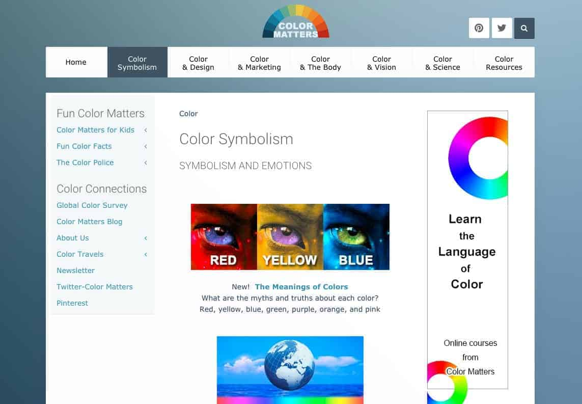 The Color Matters website