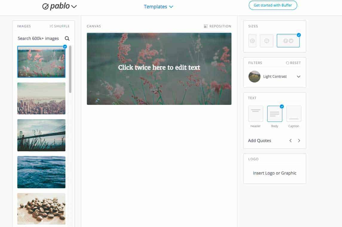 Pablo, an image editor from Buffer.