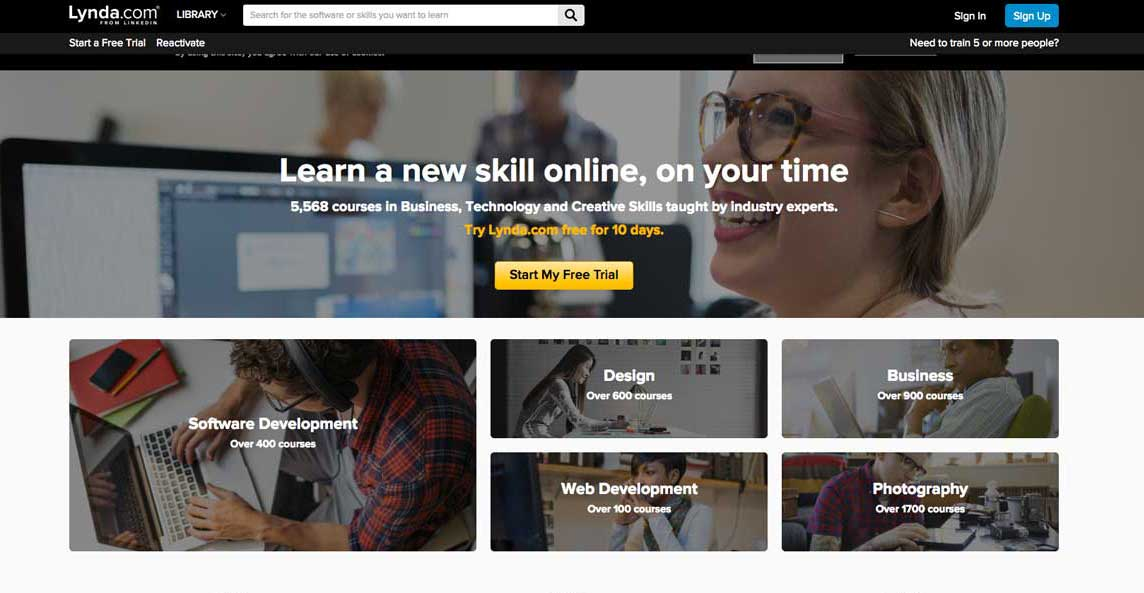 Learn how to use WordPress with Lynda.
