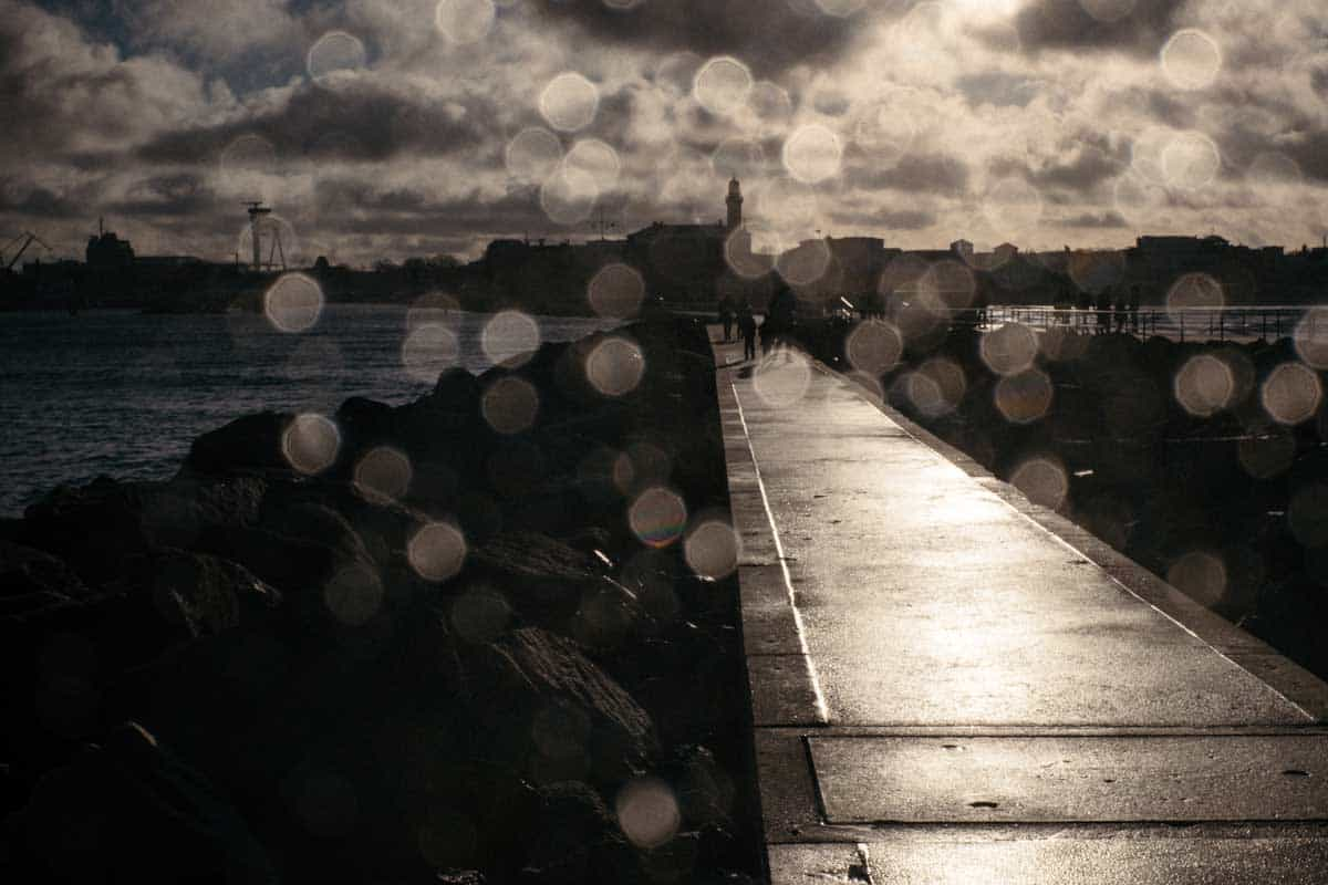 A pier in Warnemunde, image from the free image library Barn images.