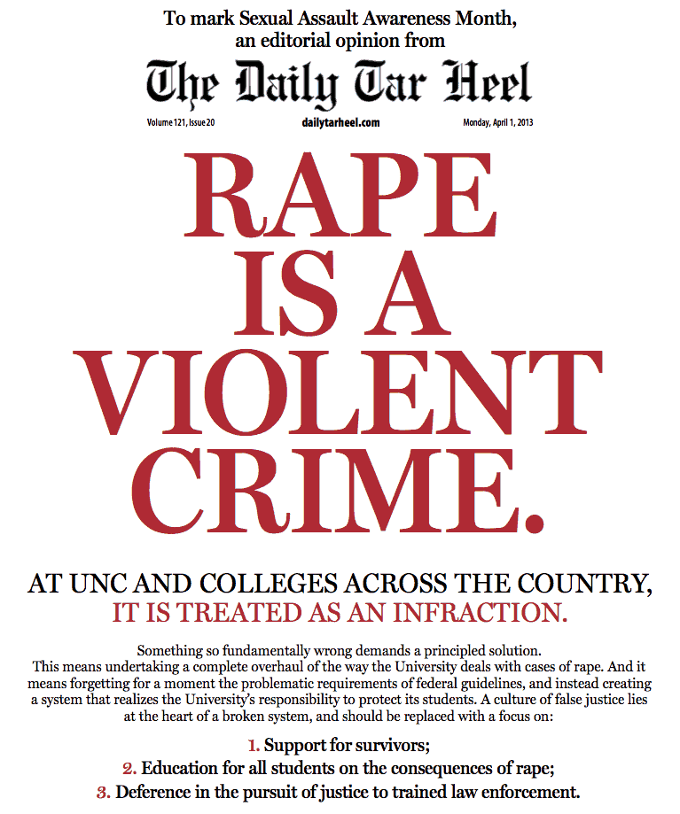 Design elements and principles. Newspaper title 'Rape is a violent crime'
