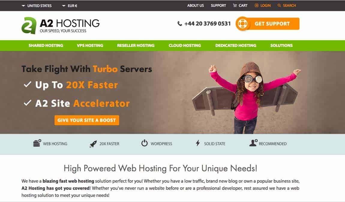 Web hosting recommendations: A2 hosting.