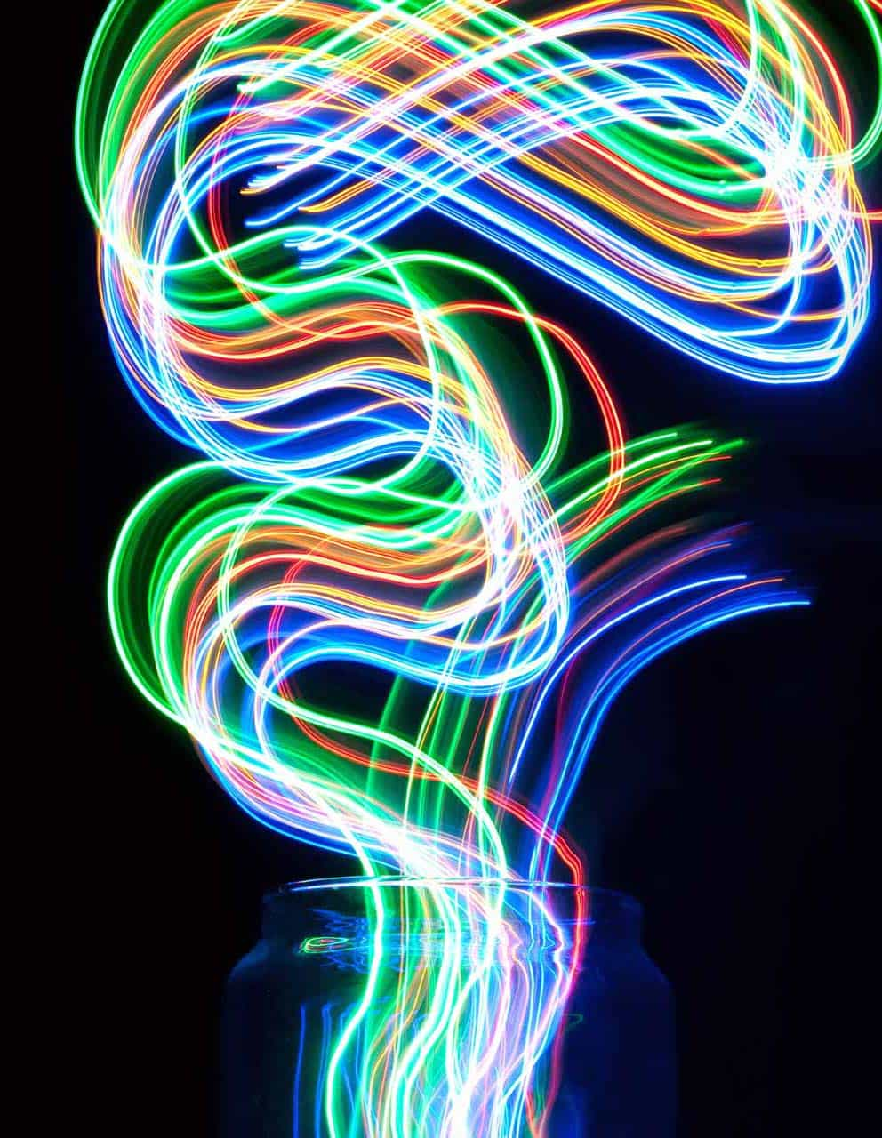 Light painting photograph conceived, created and taken by Piccia Neri for the main image for the Future Film Festival 2011 Film Poster. Photo by Piccia Neri, all rights reserved.