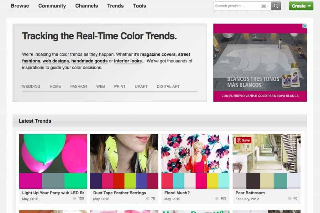 The Colour Lovers website is home to a huge, thriving community of people who live their lives by the love of colour.