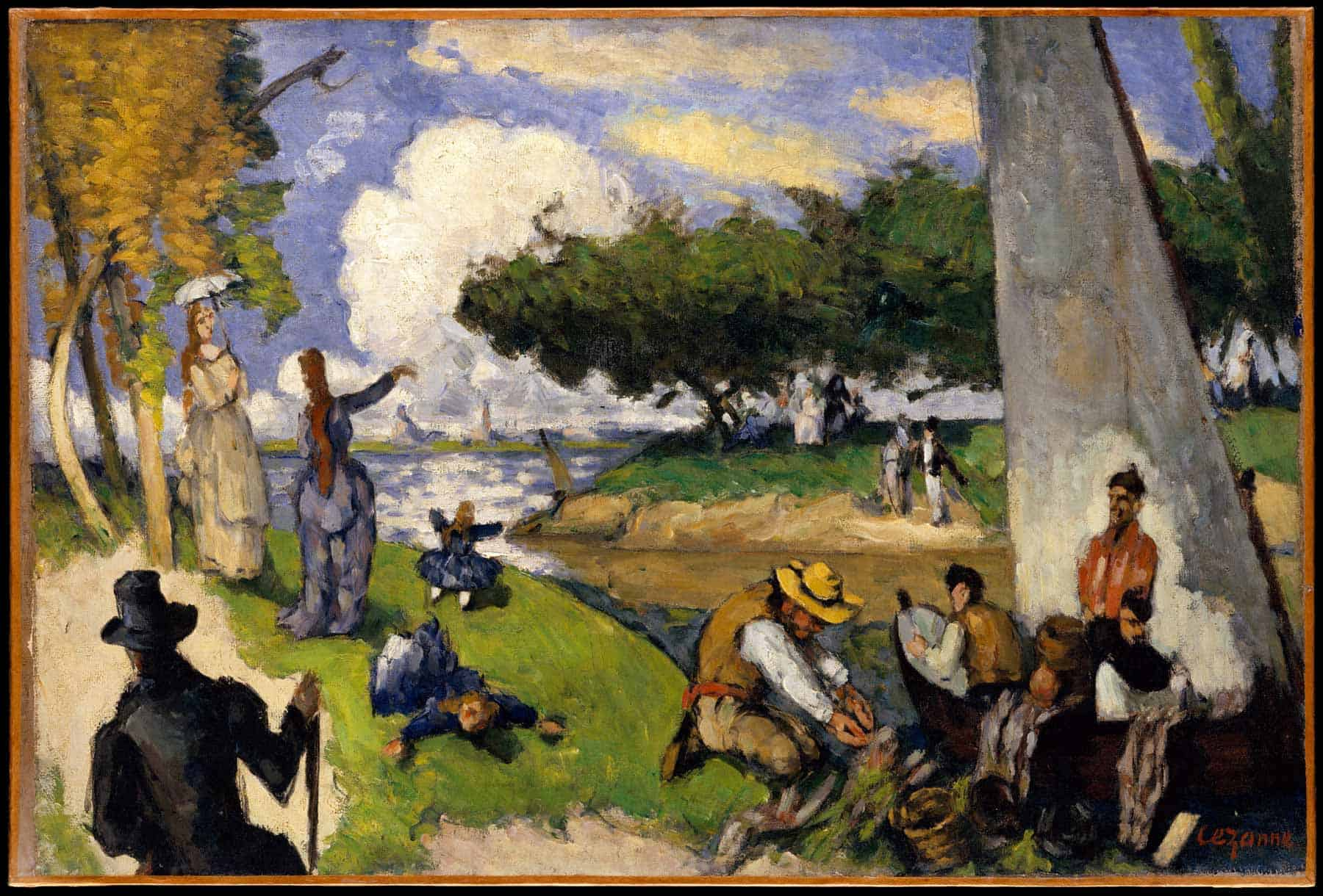 Painting by Paul Cezanne, free download from the Met Museum