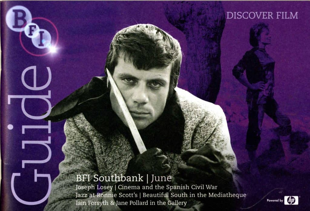 BFI Guide Cover for the Joseph Losey season, based on a still from the film These Are the Damned with Oliver Reed